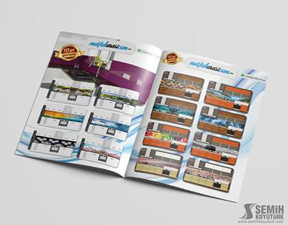 Mutfak Arası Cam Logo Tasarım / Katalog Çalışması