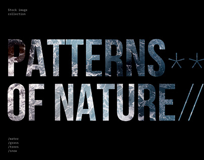 Patterns of Nature, stock image collection