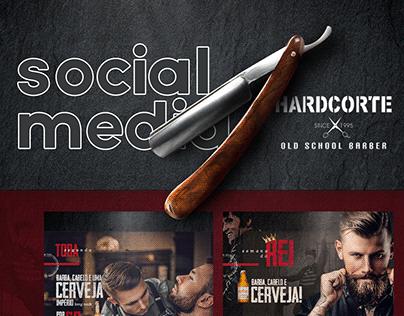 Redes Sociais - Barbearia HardCorte