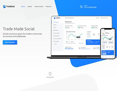 Tradebuk B2B Product Landing page