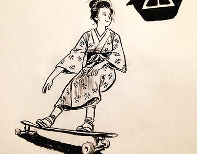 Geisha Vs Longboard