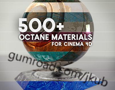 Over 500 Octane Materials for Cinema 4D