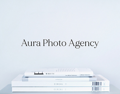 Minimalistic design for photo agency from Milan, Italy