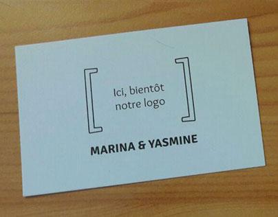 Carte de visite - Marina & Yasmine