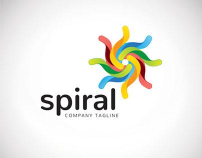 An attractive abstract Spiral vector logo symbol.
