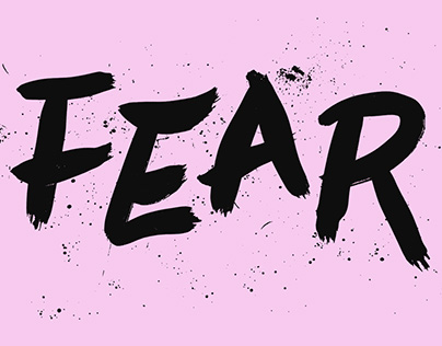 Fear Exhibition by Peachy Dublin - Logo, Posters & Site