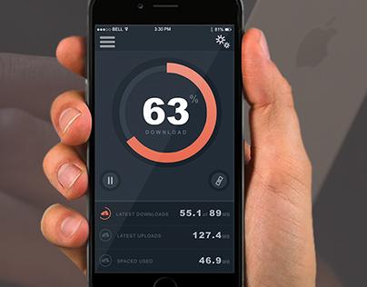 Mobile Downloadesr App I phon 5(Ui Design-Photoshop)