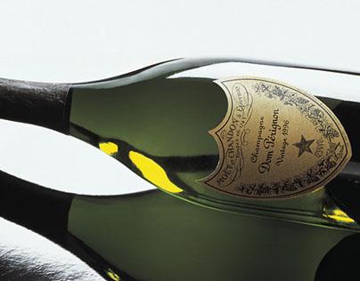 Dom Pérignon. Logo and packaging design.