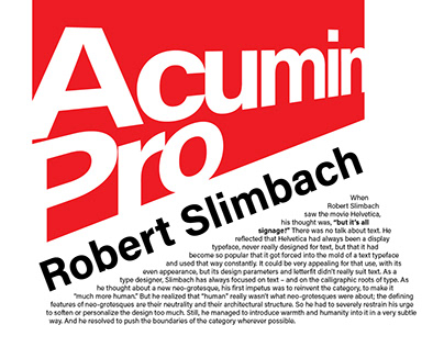 Acumin Pro Typography Poster