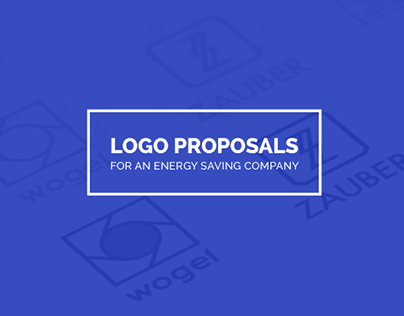 Logo proposals for an energy saving company