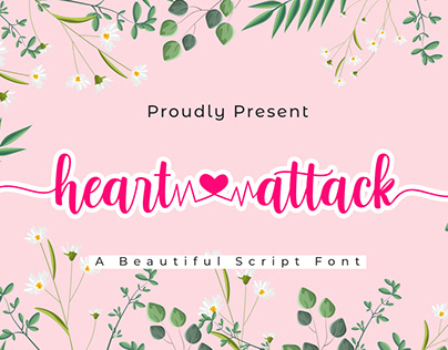 Heart Attack | A Beautiful Script Font