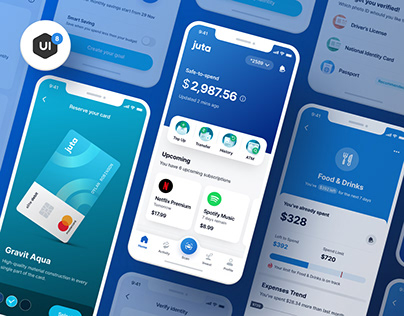 Juta Finance App UI Kit - 60+ Screens - Sketch & Figma
