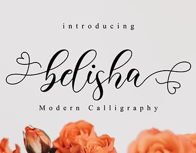Belisha // Lovely Script Font