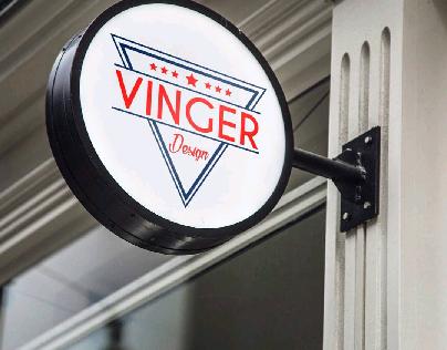 Triangle & Circle Logo for @vingerdesign