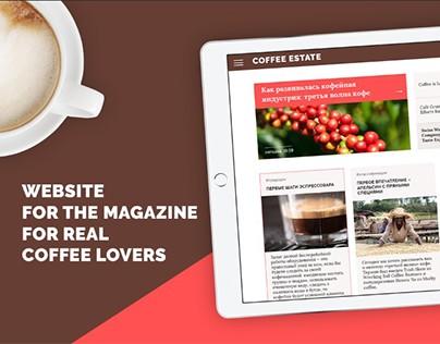Coffee estate website