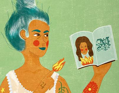Illustrations ''Las viñetas se dibujan en femenino''