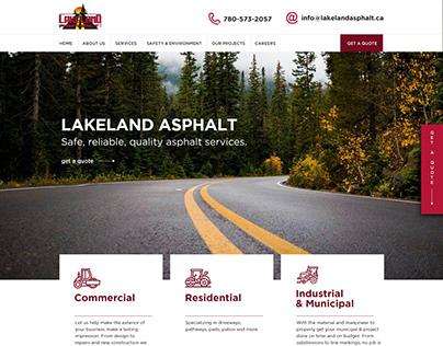 Lakeland Asphalt - Website Design & WP Development