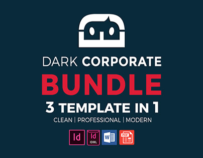 Dark Corporate Brochure Bundle