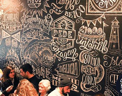 Chalkboard lettering for Hamburgueria Mooo, Nazare
