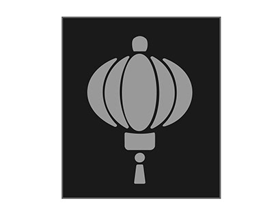 monocrom lampion illustration vector