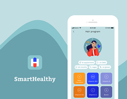 SmartHealthy - vitamin routine app concept