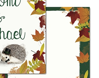 Wedding Stationary Design - Autumn Woodland Theme