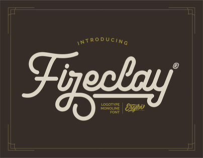 Fireclay - Logotype Font