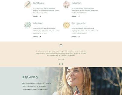 Gynecology Clinic Website Clean Design