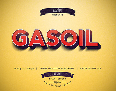 FREE: Gasoil Photoshop Text Effect