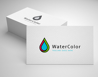 water color logo template for sale