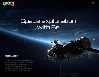 Space Landing Page Design by elementor
