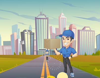 """Delivery App """"sonqr 2""""   Motion Graphic"""