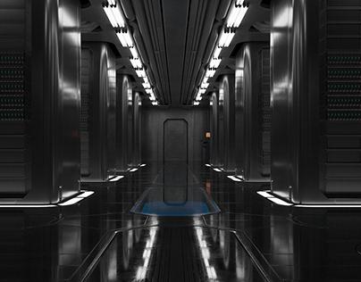 Sci-fi Server Room