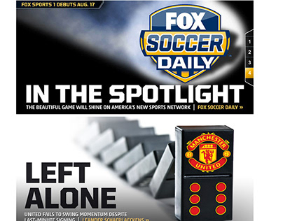 Website and social media campaign assets for Fox Sports