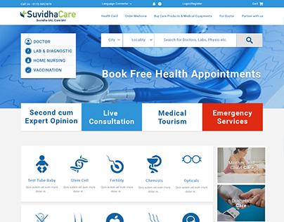 Website Mockup Design For health and medicine website