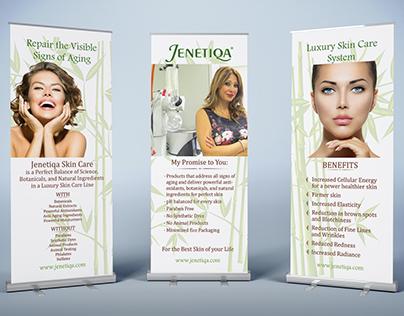 Jenetiqa Luxury Skin Care Retractable Banners