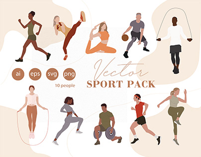 Flat Vector People Illustration Sport