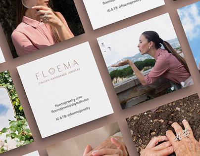 Logo and branding for FLOEMA jewelry