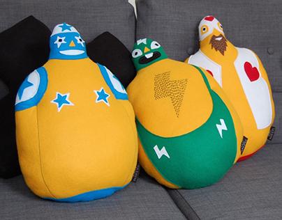 Mexican Wrestler Pillows