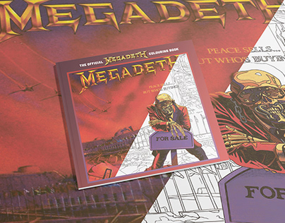 Official Megadeth Adult Colouring book