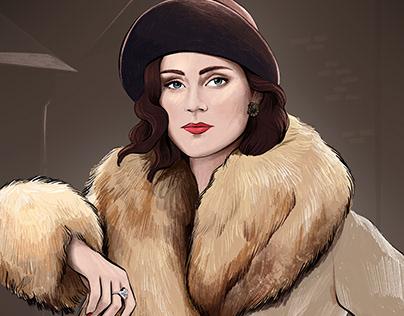 Ada Thorne portrait - Peaky Blinders fan art