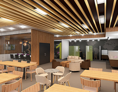Coworking space / Coffee Shop Interior design