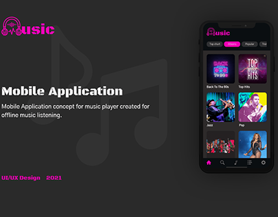 Music Player Application Concept