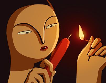 Candles, visual development