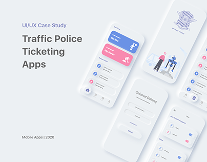 Traffic Police Ticketing Apps | UI UX Case Study