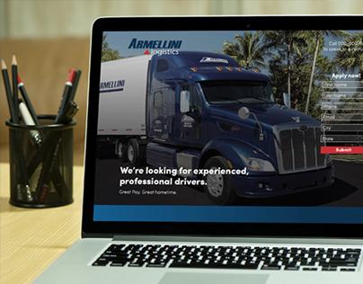 Armellini Logistics Landing Page
