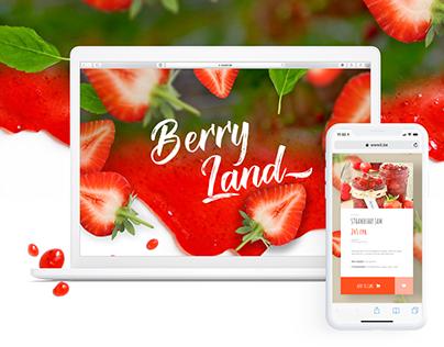 Design Concept for the Strawberry Jam Company Website