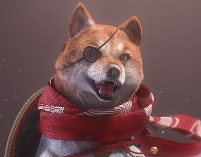 """Samurai Shiba """"Battle of Dogs"""""""