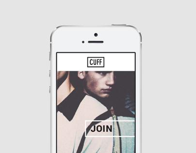 CUFF - Mobile App Concept