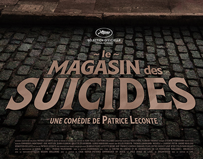 """Le magasin des suicides"" film poster"